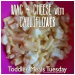 Toddler Meals Tuesday – Mac & Cheese w/Cauliflower
