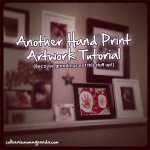 Easy Hand Print Artwork Tutorial