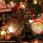 Hand Print Tile Ornament Tutorial