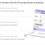 Heroes of the City Giveaway Winner