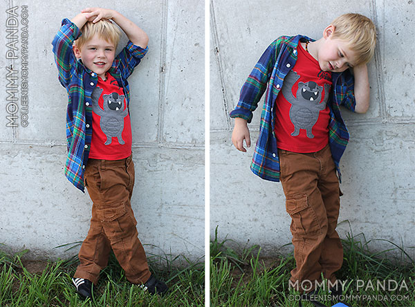mommy-panda-blog-fabkids-plaid-shirt-brown-cargos3
