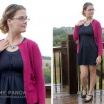 What I Wore: Raspberry Cardigan