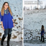 What I Wore: Blue Tunic and Skinnies